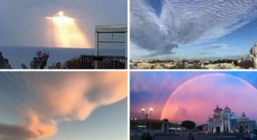 Estão sendo fotografados 'sinais do céu'?